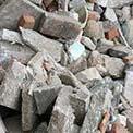 Schoon puin en stenen